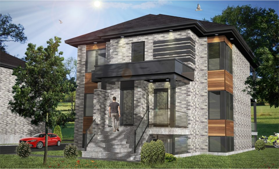 plan 3d triplex jolivar construction jolivar. Black Bedroom Furniture Sets. Home Design Ideas
